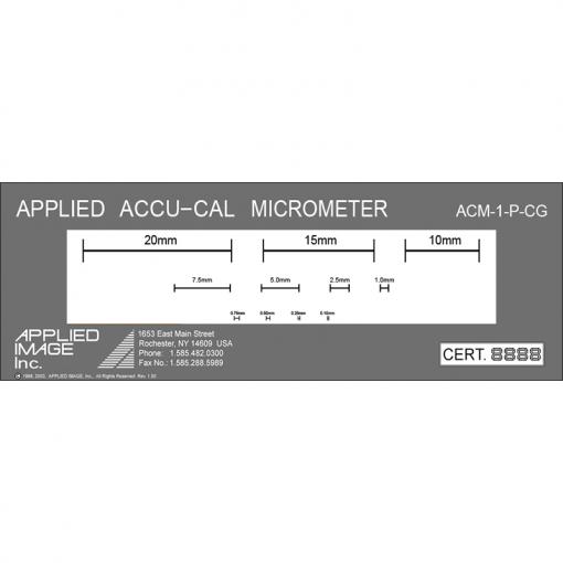 reticle graticule calibration slide for microscope