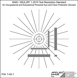 APPLIED IMAGE Announcing the NEW T-45 ANSI/ISEA Z87.1-2015 Resolution Test Standard