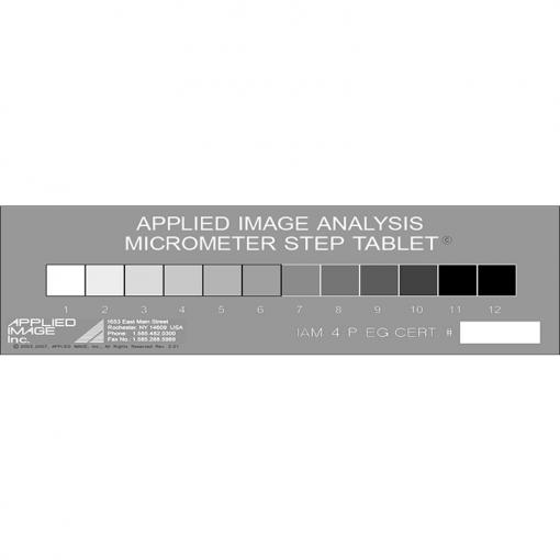 transmission step tablet micrometer calibration slide