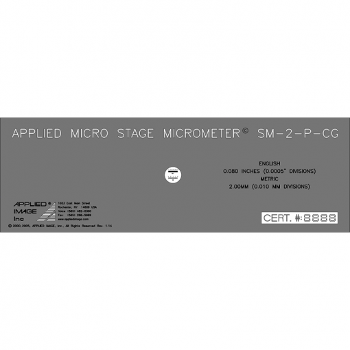 .8in stage micrometer measuring scale