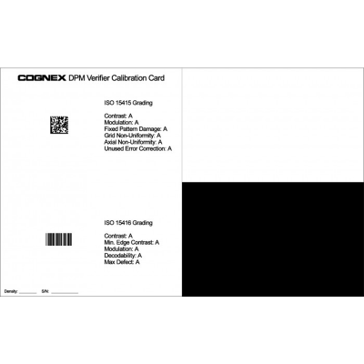 Cognex DPMV-CALCARD Verifier Barcode Calibration Card