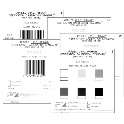 UPC Defect verifier calibration standard set