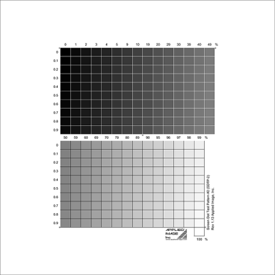 screen dot test pattern calibration target