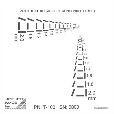 electronic pixel resolution target