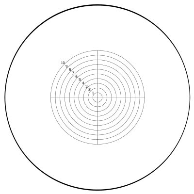 Concentric Circles with Crosshairs