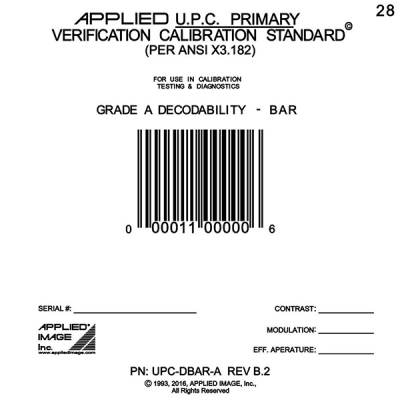 Individual UPC Bar Code Standards