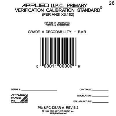 Individual UPC Bar Code Standards