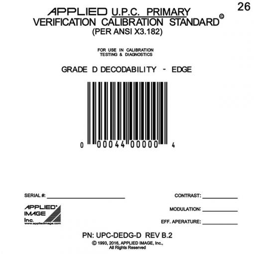 grade D decodability edge barcode card