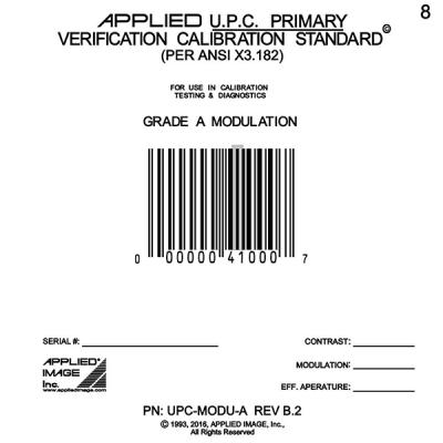grade a moldulation barcode test card