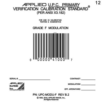 Grade F UPC Modulation Calibration Test Card
