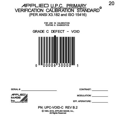 UPC void C grade test card