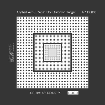 ACCU-PLACE Dot Distortion Target (AP-DD)