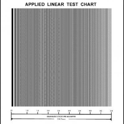 Resolution Linear Test Chart (T-62)