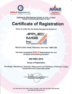 ISO 9001 accreditation for APPLIED IMAGE