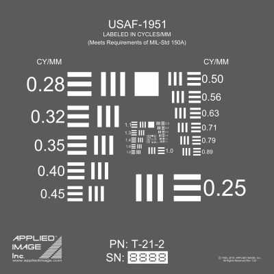 USAF-1951 Direct Read Resolution Target (T-21)